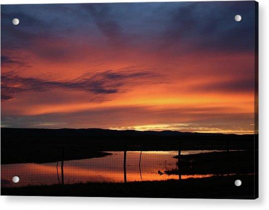 Butte County Sunrise Acrylic Print