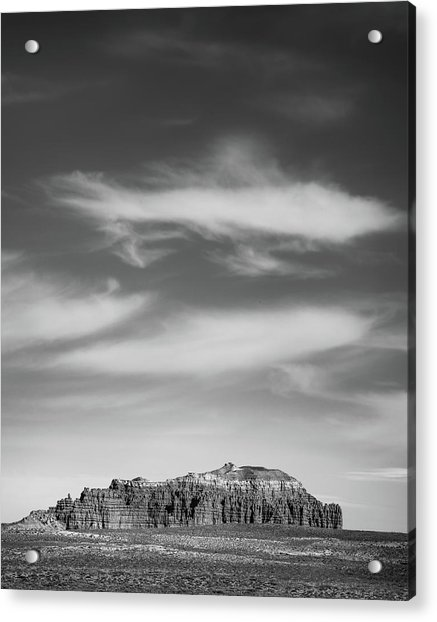 Butte With Clouds Acrylic Print by Joseph Smith