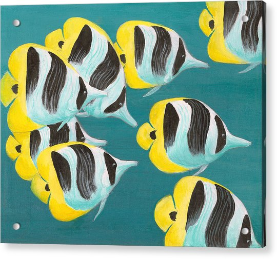 Butterfly Fish Acrylic Print