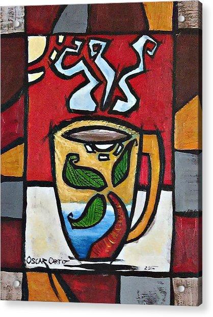 Cafe Palmera Acrylic Print