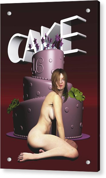 Acrylic Print featuring the painting Cake by Jan Keteleer