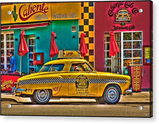 Acrylic Print featuring the photograph Caliente Cab Co by Chris Lord