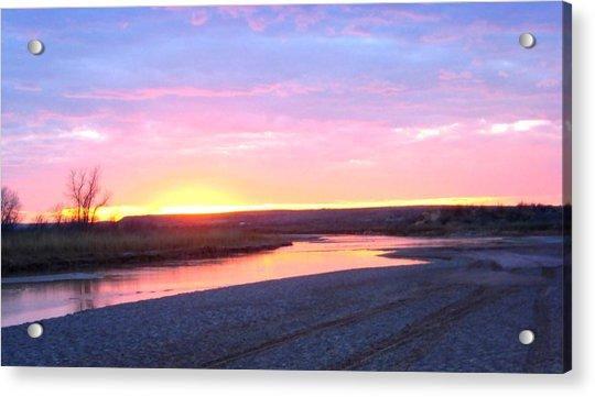 Canadian River Sunset Acrylic Print