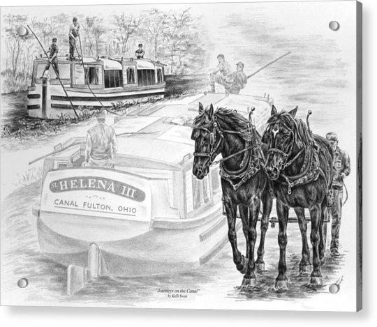 Canal Fulton Ohio Print - Journeys On The Canal Acrylic Print