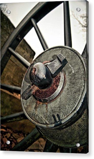 Cannon Wheel Acrylic Print