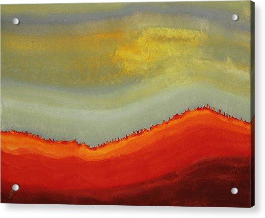 Canyon Outlandish Original Painting Acrylic Print