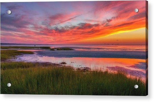 Cape Cod Skaket Beach Sunset Acrylic Print