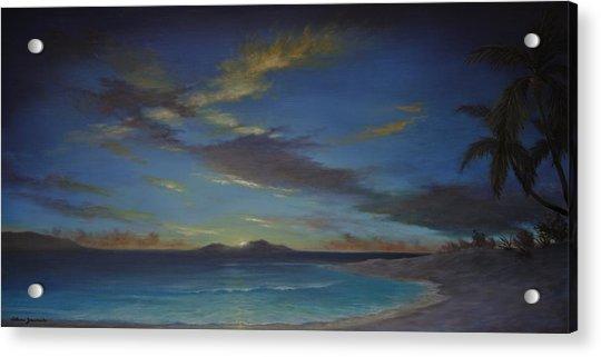 Caribbean Sunset By Alan Zawacki Acrylic Print