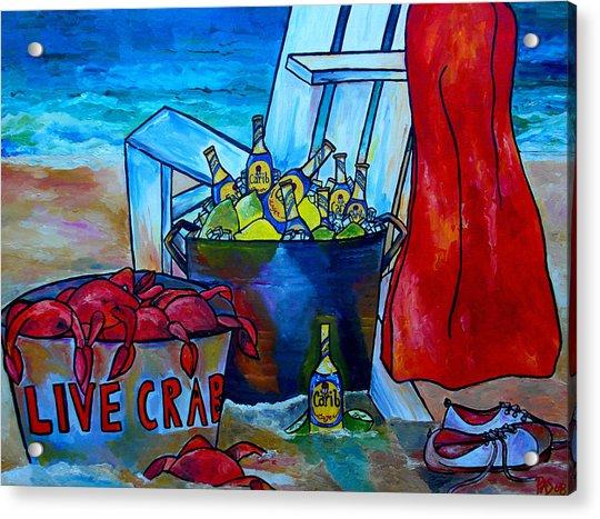 Caribe And Crab Acrylic Print