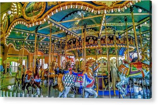 Carousel At Peddlers Village Acrylic Print