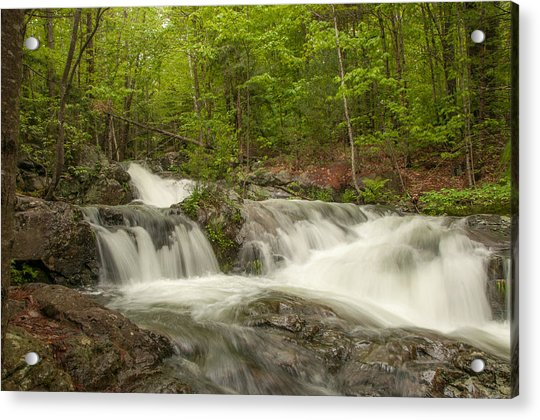 Cascades On The Brooks Falls Trail Acrylic Print