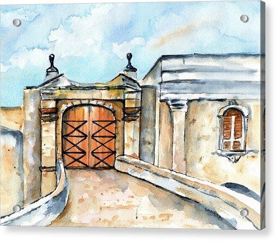 Castillo De San Cristobal Entry Gate Acrylic Print