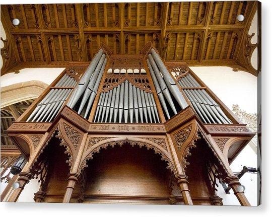Castle Ashby Pipe Organ Acrylic Print