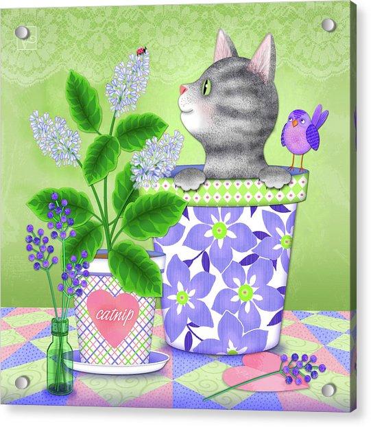 Cat Love Acrylic Print