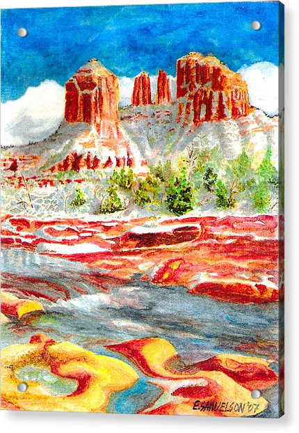 Cathedral Rock Crossing Acrylic Print