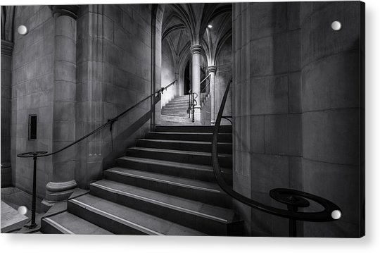 Cathedral Stairwell Acrylic Print by Michael Donahue