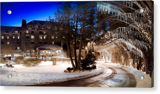 Celebrate The Winter Night Acrylic Print