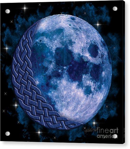 Celtic Blue Moon Acrylic Print