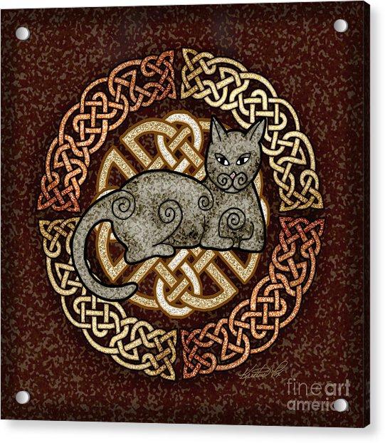Celtic Cat Acrylic Print