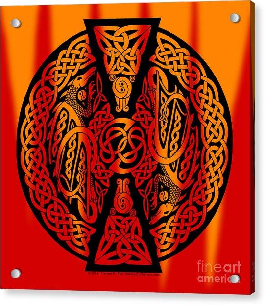 Celtic Dragons Fire Acrylic Print