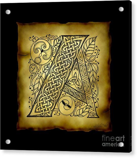 Celtic Letter A Monogram Acrylic Print
