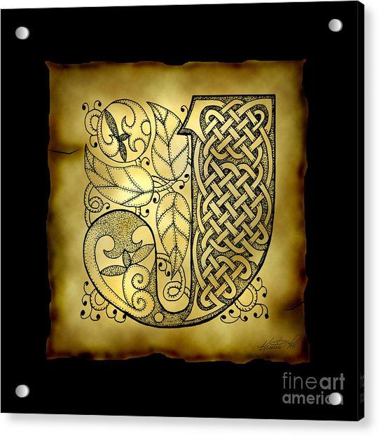 Celtic Letter J Monogram Acrylic Print