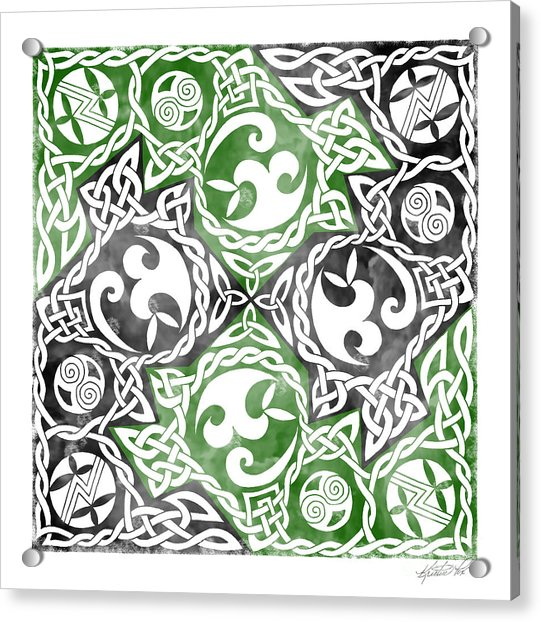 Celtic Puzzle Square Acrylic Print