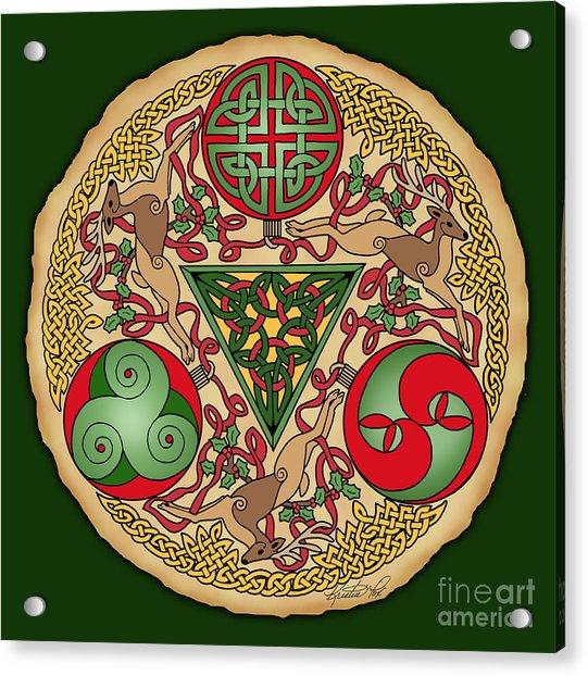 Celtic Reindeer Shield Acrylic Print