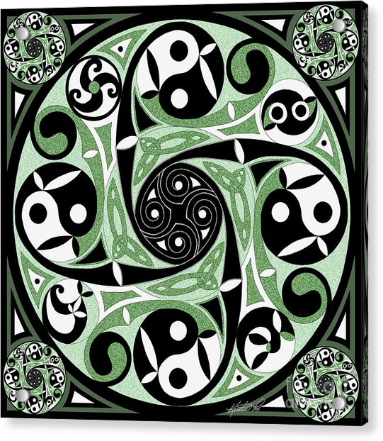 Celtic Spiral Stepping Stone Acrylic Print