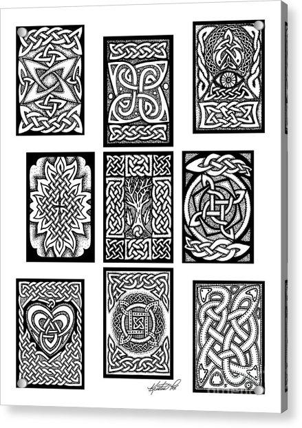 Celtic Tarot Spread Acrylic Print
