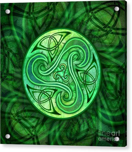 Celtic Triskele Acrylic Print