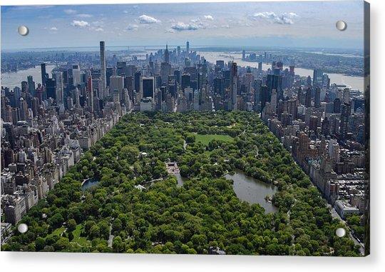 Central Park Aerial Acrylic Print