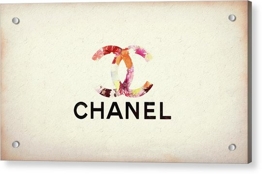 Chanel Floral Texture  Acrylic Print