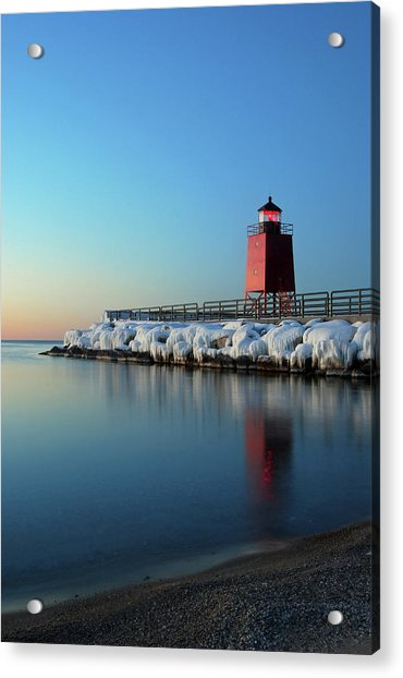 Charlevoix Harbor Light Acrylic Print