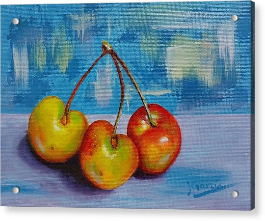 Cherries Trio Acrylic Print
