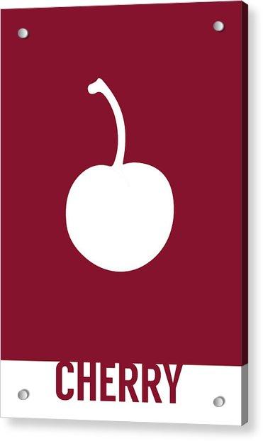 Cherry Food Art Minimalist Fruit Poster Series 013 Acrylic Print