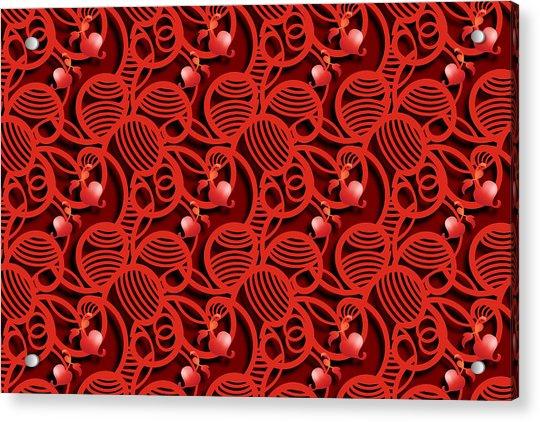 Cherry Tomato Red Hearts Acrylic Print