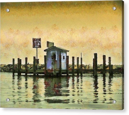 Chestertown Gas Dock Acrylic Print