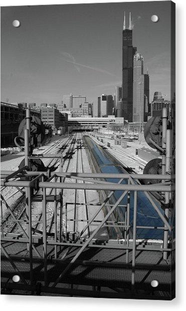 Chicago Amtrak Acrylic Print
