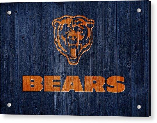 Chicago Bears Barn Door Acrylic Print