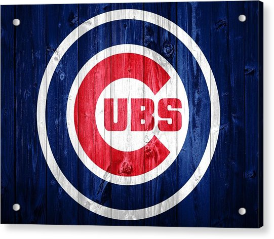 Chicago Cubs Barn Door Acrylic Print