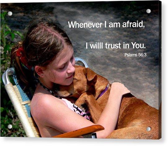 Child And Puppy Psalms Acrylic Print