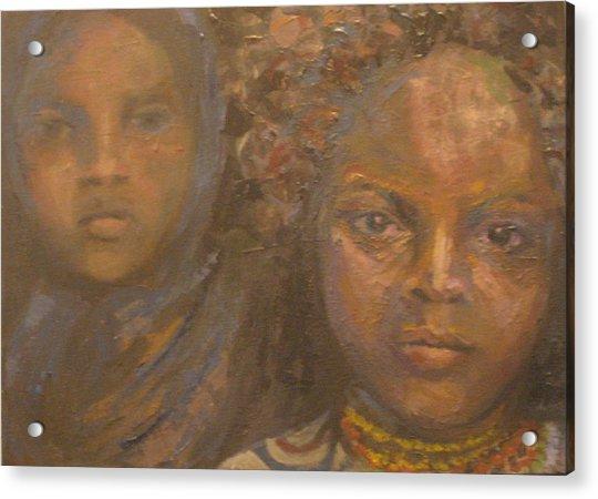 Children Of Sorrow Acrylic Print by Connie Freid