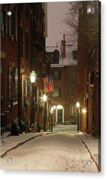 Chilly Boston Acrylic Print