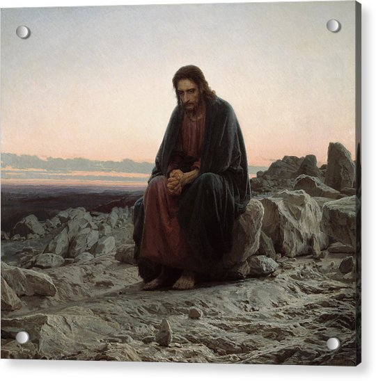 Christ In The Desert Acrylic Print