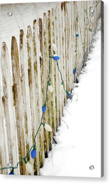 Christmas Fence Acrylic Print