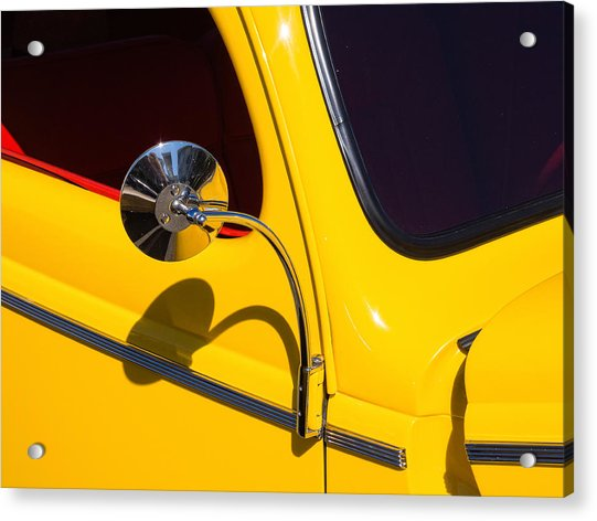 Chrome Mirrored To Yellow Acrylic Print