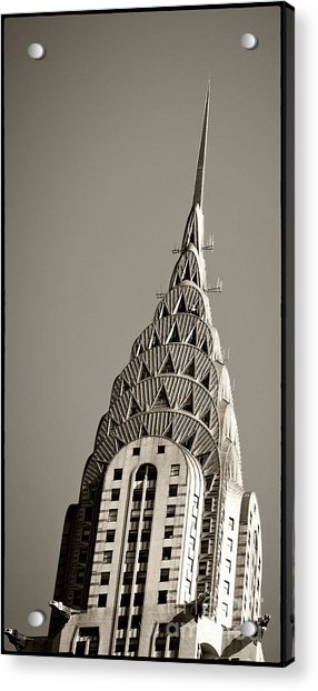 Acrylic Print featuring the photograph Chrysler Building New York City by Juergen Held