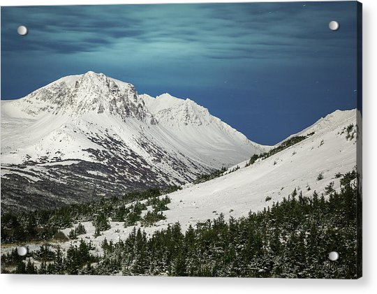 Acrylic Print featuring the photograph Chugach Night by Tim Newton