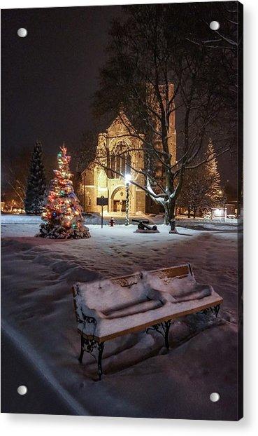 Church Of St Mary St Paul At Christmas Acrylic Print